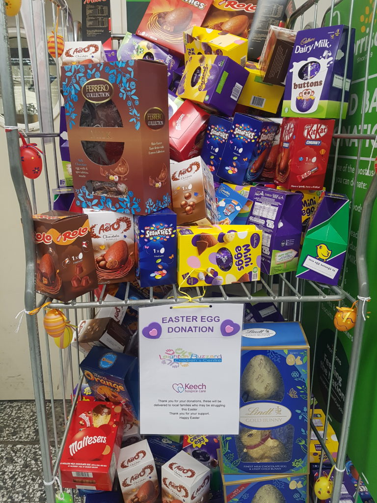 Easter Egg donation station at Morrisons in Leighton Buzzard